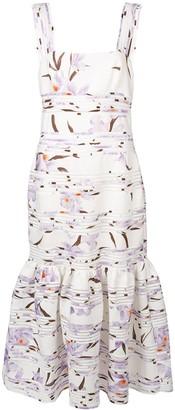 Zimmermann Pleated Floral Dress