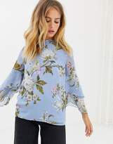 Warehouse Floral Print Blouse