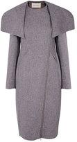 Twenty8Twelve Bette Flannel Coat Grey Melange