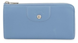 Longchamp Logo Leather Zip-Around Wallet