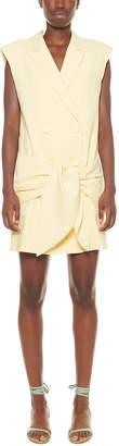 Tibi Suiting Linen-Blend Jacket Dress
