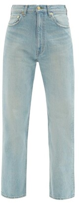 Tu es mon Trésor Emerald High-rise Straight-leg Jeans - Light Denim
