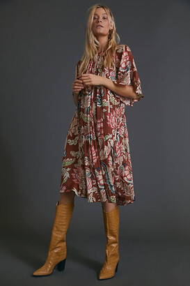 Anthropologie Leandra Pleated Mini Dress By in Assorted Size XS