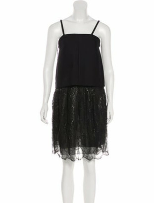 Chloé Lace-Accented Sleeveless Dress w/ Tags Black