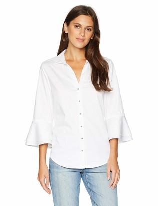 NYDJ Women's Ruffle Sleeve Shirt