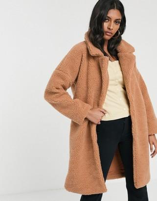 Glamorous teddy coat-Tan