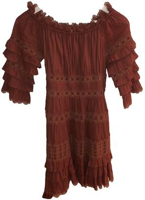 Zimmermann Orange Cotton Dress for Women