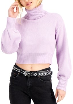 Bar III Cropped Turtleneck Sweater, Created for Macy's