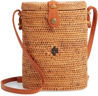 Nordstrom Woven Rattan Structured Basket Bag