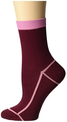 Happy Socks Hysteria By Lily Ankle Sock (Light/Pastel Red) Women's Crew Cut Socks Shoes