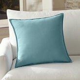 """Crate & Barrel Sunbrella ® Mineral Blue 20"""" Sq. Outdoor Pillow"""