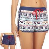 Cuddl Duds Women's Pajamas: 2-pack Print Boxer Shorts Set