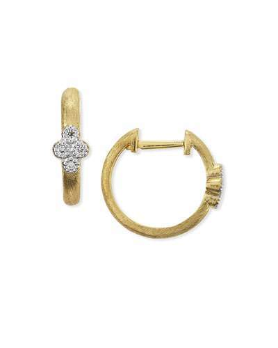 Jude Frances Provence Small Diamond Hoop Earrings