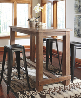 Signature Design by Ashley Light Brown Pinnadel Dining Room Bar Table