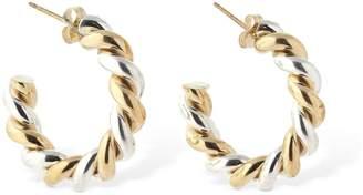 Laura Lombardi Mella Twisted Wire Hoops Earrings