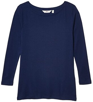 Vineyard Vines Simple Boatneck T-Shirt (Deep Bay) Women's Clothing