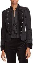 Lauren Ralph Lauren Velvet Denim Officer's Jacket