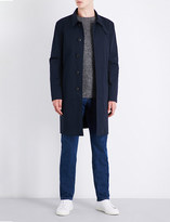 Gieves & Hawkes Monrow collared cotton-twill overcoat