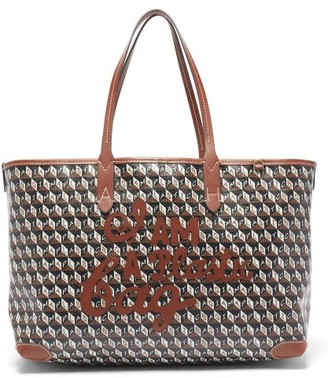Anya Hindmarch I Am A Plastic Bag Small Recycled-canvas Tote Bag - Tan Multi