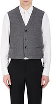 Thom Browne MEN'S DOWN-QUILTED WOOL FLANNEL VEST
