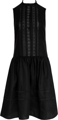 Matin Sleeveless Lace Trim Dress