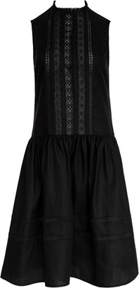MATIN Sleeveless Lace Trim Dress