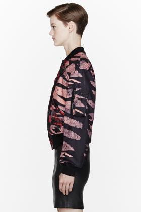 McQ Pink Historical Tiger & Tartan Print Jacket