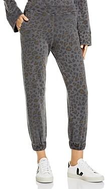 Sundry Leopard Print Sweatpants