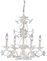 The Well Appointed House Crystorama Antique White Crystal Chandelier