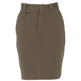 Ralph Lauren Khaki Cotton Skirt for Women Vintage