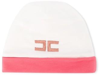 Elisabetta Franchi La Mia Bambina Logo Embroidered Knitted Hat