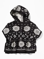 Old Navy Hooded Sweater-Knit Poncho for Toddler Girls