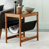 Leather Sling Side Table - Acorn