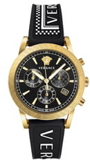 Versace Tech Chronograph Rubber Strap Watch, 40mm