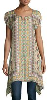 Johnny Was Kuba Georgette Printed Tunic
