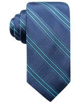 Ryan Seacrest Distinction Men's Kingston Stripe Slim Silk Tie, Created for Macy's