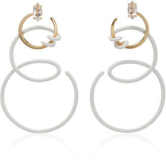 BEA BONGIASCA Single Curl Vine Earrings