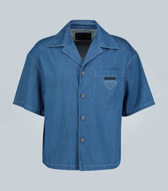 Prada Denim short-sleeve shirt