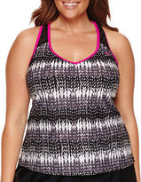 ZeroXposur Geo Linear Tankini Swimsuit Top-Plus