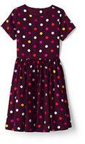 Classic Toddler Girls Twirl Dress-Rich Red Stripe