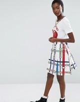 Love Moschino Belt Print Skirt