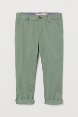 H&M Cotton Chinos - Green