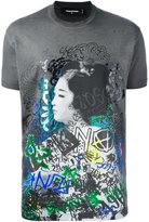 DSQUARED2 graffiti geisha print T-shirt - men - Cotton - L
