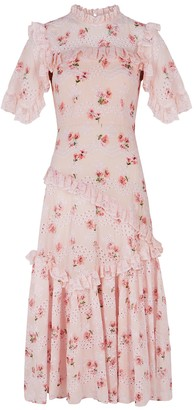Needle & Thread Desert Rose Lace Ballerina cotton-blend midi dress