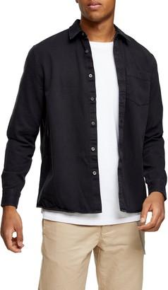 Topman Twill Slim Fit Button-Up Shirt