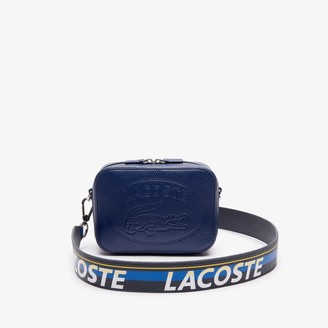 Lacoste Women's Croco Crew Grained Leather Shoulder Bag