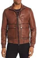 Michael Kors Burnished Leather Jacket