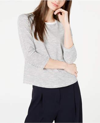 Maison Jules Striped 3/4-Sleeve Shirt