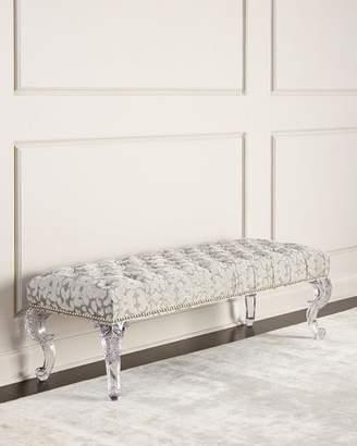 'Massoud Regis Acrylic Leg Bench' from the web at 'https://img.shopstyle-cdn.com/sim/7f/bc/7fbc99d95499ac29806af3f86e954eeb_xlarge/massoud-regis-acrylic-leg-bench.jpg'