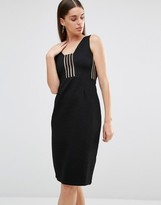 Rare Stripe Panel Midi Dress